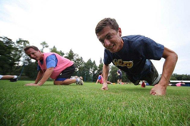 Z prvního tréninku fotbalistů FK Kolín.