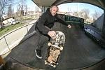 Kolínský skateboardista Vladimír Blecha.