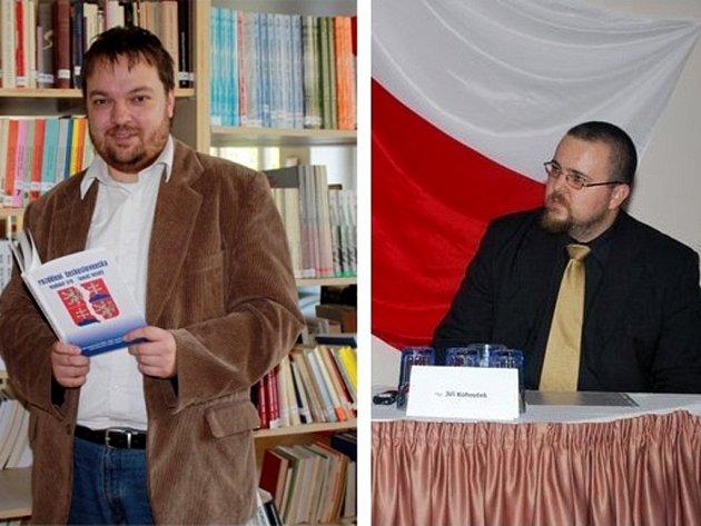 Kolínští politologové Vladimír Srb (vlevo) a Jiří Kohoutek (vpravo).