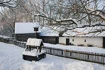 Zvlášť pod sněhem má skanzen neopakovatelné kouzlo