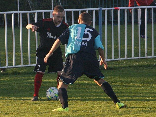 Z utkání Býchory - Břežany II (0:0).