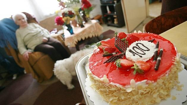 Marie Šťastná oslavila sté narozeniny