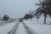 Sněhová kalamita na Kolínsku.