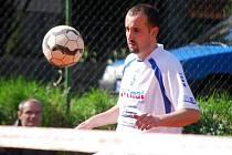 Ze zápasu nohejbalové extraligy TJ Slavoj Český Brod - SK Nohejbal Žatec