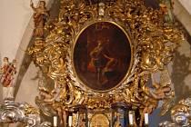 Interiér kostela svatého Víta na kolínském Zálabí
