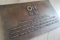 Pamětní deska, jejíž odhalení se chystá v Zalešanech.