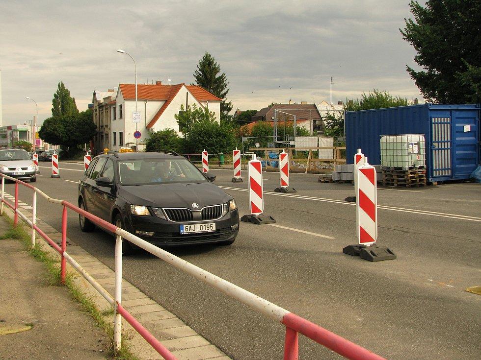 Z rekonstrukce podchodu pod Jaselskou ulicí v Kolíně.