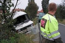 Dopravní nehoda na odbočce z I/12 směrem na Chotutice