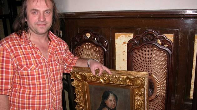 Antonín Dotlačil na zámku.