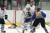 Z utkání druhé hokejové ligy Kolín - Benešov (2:4).