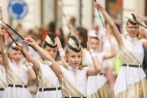 V sobotu 8. června byl odpoledne na programu tradiční průvod městem.