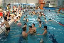 Na 7. Základní škole se plavalo o překonání rekordu