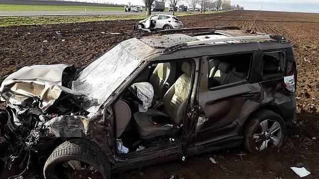 Dopravní nehoda na silnici I/12 u odbočky na obec Třebovle.