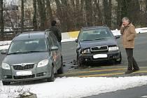 Dopravní nehoda u Lidlu 18.2.2009.