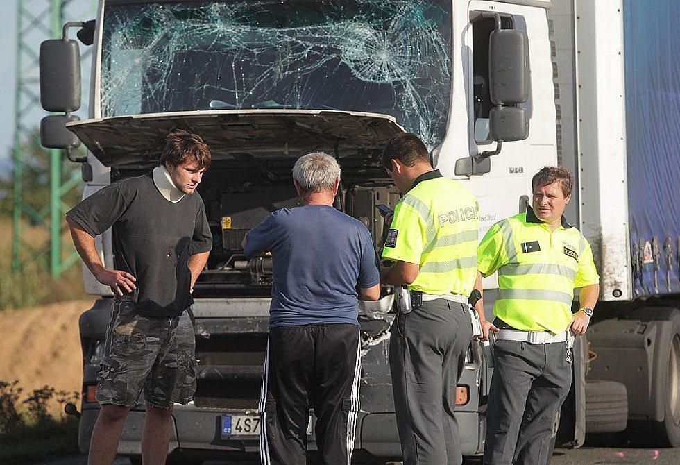 Nehoda za Kolínem. 12. září 2011.
