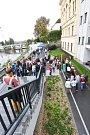 Otevírání zrekonstruovaných teras městského společenského domu