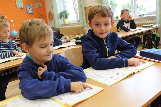 Prvňáčci ze třídy 1.Aze základní školy Velký Osek ve školním roce 2019/2020.