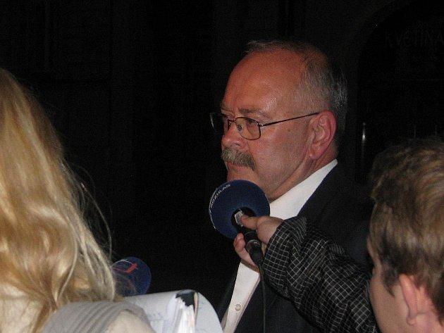 Jiří Buřič těsně po jednání Oblastní rady ODS Kolín