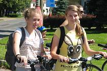 Z premiérové vyjížďky po nových cyklotrasách Pod Vysokou