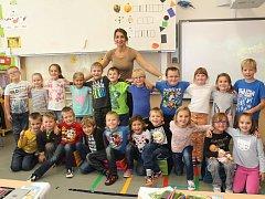 Třída 1. A  7. základní školy Kolín s třídní učitelkou Evou Cilovou
