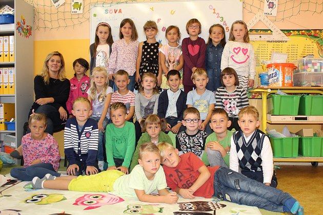 Třída 1.B  5.základní školy Kolín vMnichovické ulici, třídní učitelka Ivana Banasinská