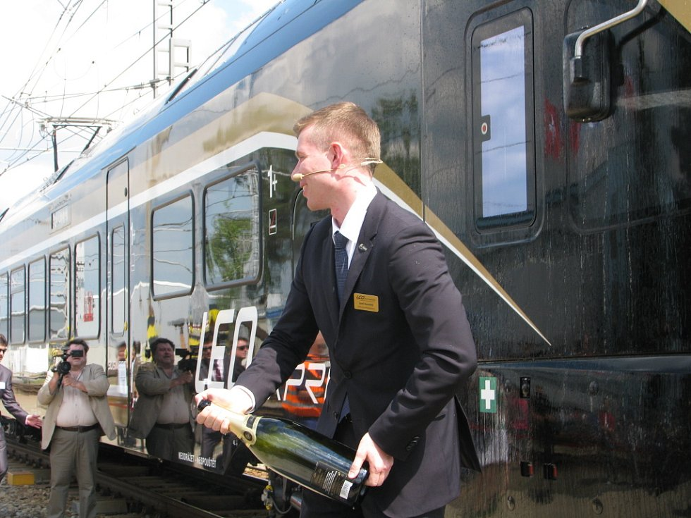 Ze slavnostního představení vlakové soupravy Leo Express