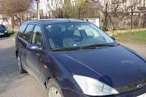 Auto, v němž po několikahodinovém utrpení zahynul kříženec novofundlanda.
