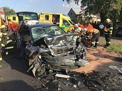 Vážná dopravní nehoda v Rostoklatech, středa 25. července 2018.
