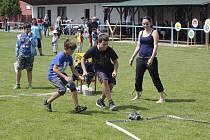 Děti si v Tuchorazi užily  den plný her.