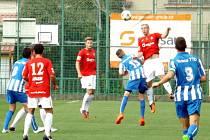 Z utkání Velim - Dobrovice B (2:0).