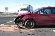 Jedna z nehod na křižovatce nad hasičárnou