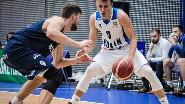 Z utkání 5. kola NBL BC Kolín - Ostrava (74:72).