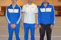 Kolínská elita: Daniel Radovesnický (zleva), Martin Taftl a předseda klubu Michal Žoha.