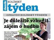 Titulní strana třicátého prvního čísla týdeníku Kolínský týden.