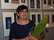 Z vernisáže výstavy 'Kresebné variace' Vladimíra Jana Hnízda v Červinkovském domě v Kolíně.
