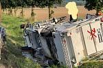 Z dopravní nehody v Kozojedech 13. září 2021.