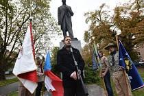 V předvečer svátku vzniku republiky se v Kolíně před sochou Tomáše Garriguea Masaryka u budovy Gymnázia uskutečnil tradiční pietní akt.