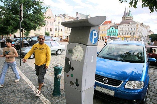 Parkomat na Karlově náměstí v Kolíně