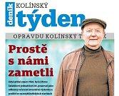 Titulní strana třicátého čtvrtého čísla týdeníku Kolínský týden.