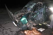 Vážná dopravní nehoda poblíž Olešky, 10. února 2011