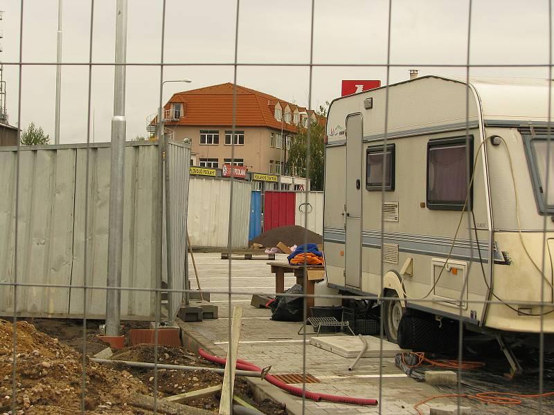 Z výstavby Penny marketu v Ovčárecké ulici v Kolíně.