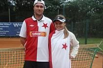 Vítězná dvojice tenistů