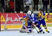 Z utkání druholigového play off, Kolín - Nymburk (6:2)