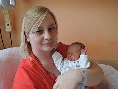 Jiří Masař se rozplakal 10. ledna 2017 sváhou 2505 gramů. Maminka Barbora a tatínek Jan si svého prvorozeného odvezli do Kostelce n. Č. l.