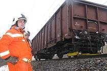 Nákladní vlak. Ilustrační foto.