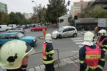 Nehoda v Jaselské ulici v Kolíně