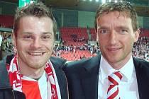 Michal Fott (vlevo) ve společnosti Vladimíra Šmicra.