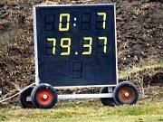 Z utkání Říčany - Velim (0:7).