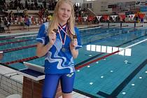 Kolínská plavkyně Blanka Lelková.