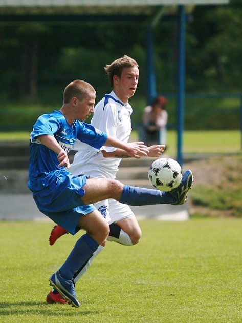 Z utkání staršího dorostu FK Kolín - SK Kladno (0:1).